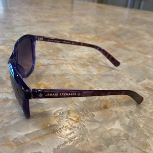 Royal purple Armani Exchange big sunglasses